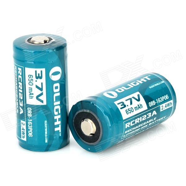 OLIGHT RCR123A 3.7V 650mAh Rechargeable Li-ion Battery - Dark Green (2 PCS) yes yes relayer cd dvd