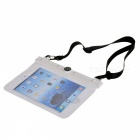 Protective PVC Waterproof Bag for IPAD 5,IPAD Mini - White+Transparent