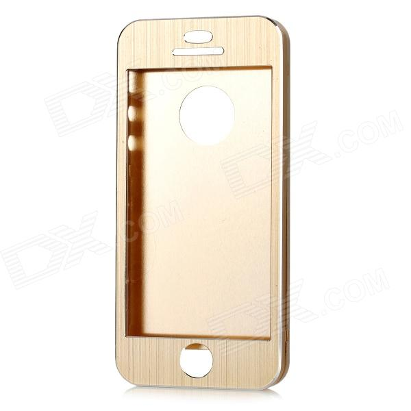 Ultra-thin Protective Aluminum Alloy Full Body Case for IPHONE 5 / 5S - Golden