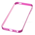 Ultrathin 0.7mm Aluminum + Silicone Bumper Case w/ Screen Protector for IPHONE 5 / 5S - Deep Pink