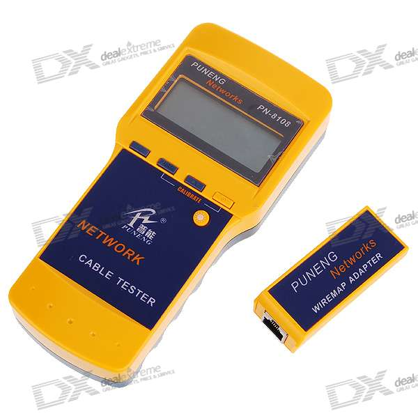 "2.5"" LCD 5E/6E/Coaxial and Telephone Cable Tester (4*AA)"
