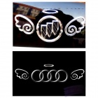 B0103 Angel Wings Style PVC Car Body Sticker - Silver