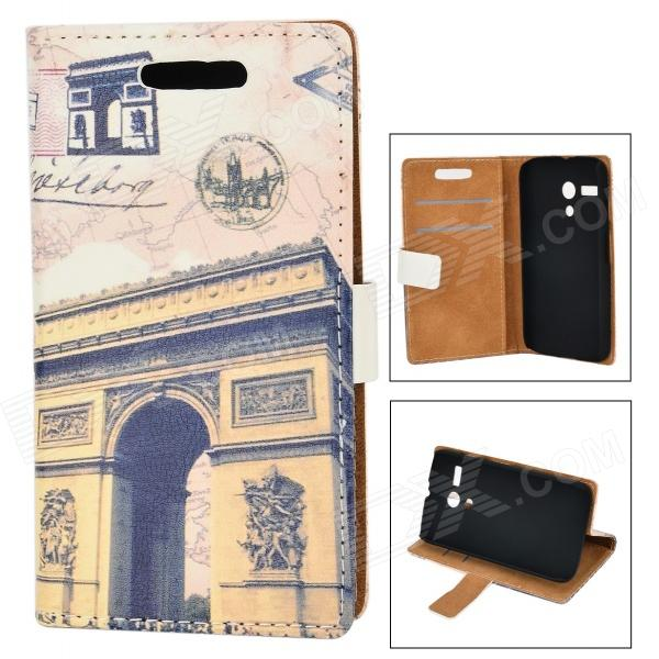 Triumphal Arch Pattern Protective PU + PC Case for Moto G