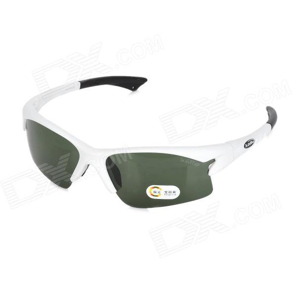 KALLO YH-018 Outdoor Sports TR90 Frame PC Lens Goggles w/ Replacement Lens - Ice White + Grey topeak outdoor sports cycling photochromic sun glasses bicycle sunglasses mtb nxt lenses glasses eyewear goggles 3 colors