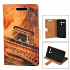 Maple Turm Muster Protective PU + PC Fall für Moto G - Tawny