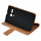 Maple Tower Pattern Protective PU + PC Case for Moto G - Tawny