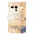 Leaning Tower of Pisa Pattern Protective PU + PC Case for Moto G