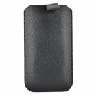 Lichee Pattern Protective PU Leather Case for Samsung Galaxy S5 - Black