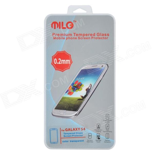 MILO Protective AGC Glass Tempered Glass Screen Protector for Samsung Galaxy S4 pudini protective 0 4mm tempered glass screen protector guard film for samsung galaxy s4 i9500