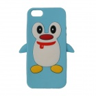 Cute Penguin Style Protective Silicone Back Case for IPHONE 5 / 5S - Blue