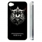 ZH01 Death Skull Pattern LED Flash Light Color Changing Protective ABS Back Case for IPHONE 4 / 4S