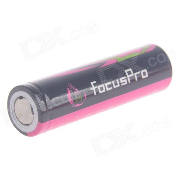 FocusPro 4.2V 1500mAh Rechargeable Lithium Ion 18650 Battery w/ Protection Board - Black + Fuschia