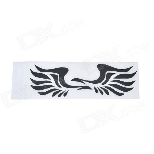 B007 Wings Style Car Rearview Mirror Sticker - Black (Pair)
