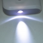 "1.0"" LCD 8000mAh Dual USB Mobile Power Source Bank w/ Flashlight for IPHONE + More - White"
