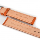 Chimaera Alligator Pattern Genuine Leather Handmade Watch Band Strap - Bright Brown (18mm)