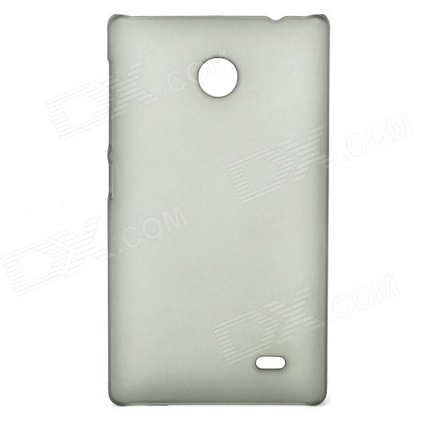 Protective Frosted PC Back Case for NOKIA X - Translucent Black гарнитура shure se215 k translucent black