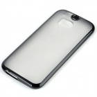 Protective Frosted TPU + PC Back Case for HTC One 2 M8 - Black + Transparent