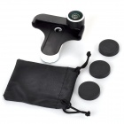 SFWM 4-in-1 Fish eye + Marco + Wide Angle + Front Fish Eye Set for Samsung Galaxy S4 - Black + White