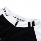 TOPCYCLING SAD209 Men's Outdoor Quick-dry Cycling Short Jersey Clothes - Black + White (Size XXL)
