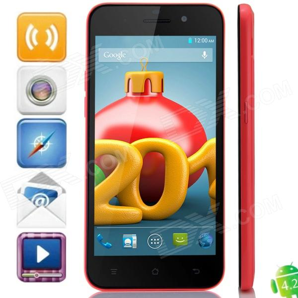 A2800 MTK6592 Octa-Core Android 4.2.2 WCDMA Phone w/ 5.0″ IPS HD, FM, 2GB RAM, GPS, OTG – Orange Red