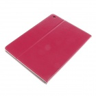 Kinston Retro Flowers Printed PU Leather Case Cover Stand w/ Auto Sleep for IPAD AIR - Deep Pink