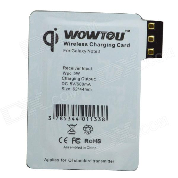 WOWTOU Wireless Charging Receiver for Samsung Galaxy Note 3 N9000 - White