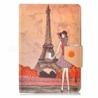 Kinston Modern Lady Pattern PU Leather Case Cover Stand for IPAD MINI / RETINA IPAD MINI