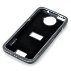 Pull-out Protective Aluminum Alloy Back Case for HTC ONE X - Black