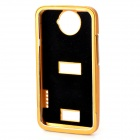 Pull-out Protective Aluminum Alloy Back Case for HTC ONE X - Golden