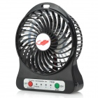 F95b Portable Mini USB / AC Power 4-Blade 3-Mode Fan - Black (1 x 18650)
