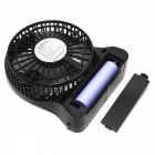 F95b transportabel Mini USB / AC Power 4-Blade 3-modus Fan - svart (1 x 18650)