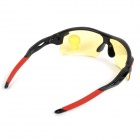 Oulaiou 009181 Men's Cycling UV400 Sunglasses w/ Resin Lens / PC Frame - Black + Red + Tawny