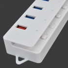 CQT-3005 5-Port USB HUB w/ Switch Control / LED Indicator - White