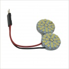 BA9S / T10 / Festoon 6W 660lm 22 x SMD 1210 LED Car White Dome Light (12V / 2 PCS)