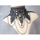 VAMPIRE MOTO MTN44 Women's Lace Punk Dress Accessories Collar Necklace - Black
