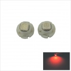T4.7 0.2W 20lm 1 x SMD 5050 LED Red Light Car Instrument Lamp - White (DC 12V / 2 PCS)