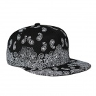 Fashionable Outdoor Canvas Baseball Cap Hip-Hop Style Hat - Black + White