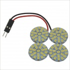 5W 528lm 88-SMD 1210 LED White Light Car Dome Lamp w/ T10 / BA9S / Festoon Connectors (12V)