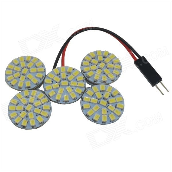 T10 / BA9S Festoon 6W 110-SMD 1210 LED White Light Car Rodada telhado lâmpada (12V)