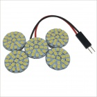 T10 / BA9S Festoon 6W 110-SMD 1210 LED White Light Car Round Roof Lamp (12V)