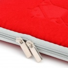 Dual Zipper Protective Inner Bag for 7'' Tablet PC - Red