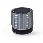 K5 4-in-1 Wireless Bluetooth V3.0 Stereo Audio Speaker w/ TF, FM, 3.5mm AUX In, Microphone - Silver