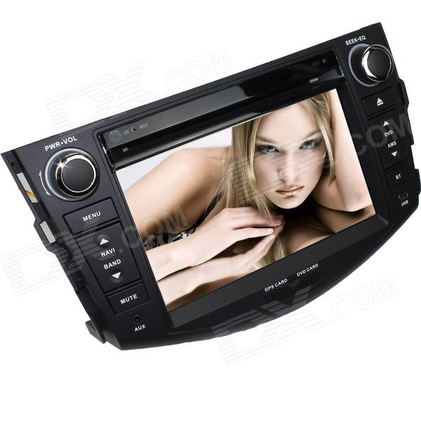 LsqSTAR 7 Touch Screen 2-DIN Car DVD Player w/ GPS, AM, FM, RDS, 6CDC, TV, Dual Zone, AUX for RAV4 lsqstar 7 touch screen 2 din car dvd player w gps am fm rds 6cdc tv dual zone aux for rav4