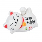 Lucky Cat Style Solar Hand-Shaking Car Decoration Display Model Toy