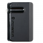 2-in-1 Bluetooth Earphone / Headset + 6600mAh Power Bank for IPHONE / Samsung + More - Black