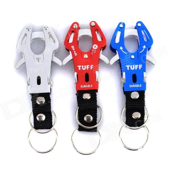 TUFF Convenient Outdoor Durable Aluminum Alloy Carabiner - Sky Blue + Silver + Red (3 PCS) ryder anodizing aluminum alloy screw lock carabiner blue 7mm