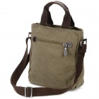 Locallion 1301 Casual bomull lerret glidelås skulder Messenger Bag for menn - Khaki