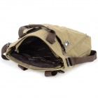 Locallion 1303 Men's Waterproof Casual Cotton Canvas Single Shoulder Bag / Satchel - Khaki