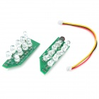 Infrared 18-LED Illuminator Board Plates for 6mm Lens CCTV Security Camera (2-Piece Pack)