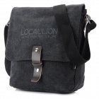 Locallion 1302 Men's Casual Water Resistant Canvas Messenger Bag - Black